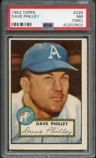 1952 TOPPS #226 DAVE PHILLEY A'S PSA 7 NM MC 358262 (KYCARDS)