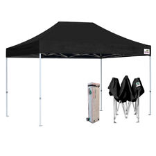 Ez Pop Up Canopy Black 10x15 Outdoor Event Party Patio Gazebo Shade Tent Shelter