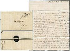 1836 FROM SHIP HMS DUBLIN in BRAZIL WILLIAM ARMYTAGE LONG LETTER MOURNING PAPER