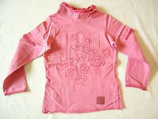 Tee-shirt rose 3 ans MARËSE à manches longues avec col montant