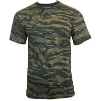 Tiger Stripe Camo T-shirt - Camouflage Army Military Top Soldier All Sizes New