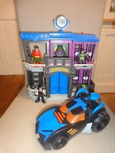 Imaginext DC Super Friends Batman JAIL FIGURES AND BATMOBILE