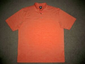 Men's NWOT FOOTJOY Golf Polo XL HEATHER ORANGE w/FJ Logo