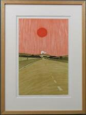 JOHN BRUNSDON limited edition FRAMED pencil signed WELSH etching NEATH   WALES