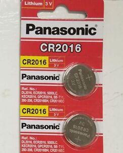 2 x PANASONIC CR 2016 CR2016 ECR2016 LITHIUM COIN CELL Button Battery Exp 2025