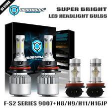 Hi/Lo 9007 HB5+H11 H8 LED Headlight Fog Bulbs Kit for Ford Focus Ranger 2005-07