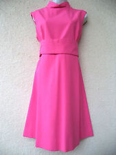 Vintage 1960s Cocktail DRESS Mod Party PINK Sheath Mini Space Age GoGo Jackie O