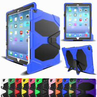 """Shockproof Armor Stand Case For iPad Pro 12.9"""" 10.5"""" 9.7"""" with Screen Protector"""