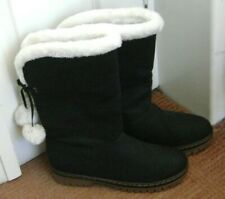 Womens Black Calf Length Boots. Size 41.