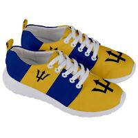 BARBADOS Barbadian Bajan National Flag Mens/Womens Running Sneaker Shoes BSH