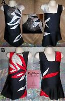 Rhythmic Gymnastics Leotard Acro Ice Skating Dress Twirling Tap Dance Costume