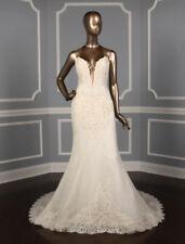 NEW SEXY Ines Di Santo Chic Lace Wedding Dress Ivory Illusion Mermaid 10 $5,990