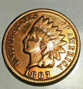 1887 Indian Head Cent  Cleaned