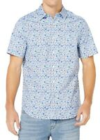Nautica Mens Shirt Blue Medium M Floral Classic Fit Stretch Button Down $49 036
