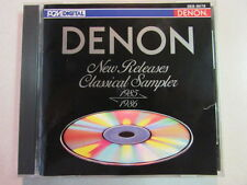 DENON NEW RELEASES CLASSICAL SAMPLER 1985 1986 18 TRK CD MADE IN JAPAN BACH OOP