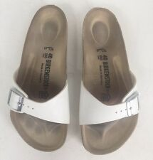 eec5e5540e36 Birkenstock White Leather One Strap Sandals Women s Size 40 US 9 Excellent!