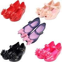 Mini Melissa Fall Kids Girls Cloth Bow Butterfly & Fish Head Cute Sandals Shoes