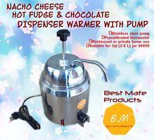 B.M GM-280Hot Fudge Nacho Cheese Dispenser Warmer With Pump+ Stainless Steel Can