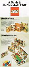 1976 A Guide to the World of Lego Small Fold-Out Catalog/Brochure