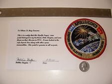"Apollo Soyuz Test Project (ASTP) Space Flown 4"" Crew Patch Ex-Deke Slayton NASA"