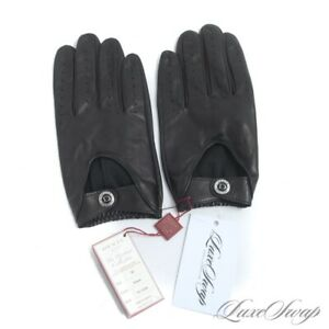 NWT #1 MENSWEAR Dents England Heritage Black Unlined Leather Driving Gloves M #1