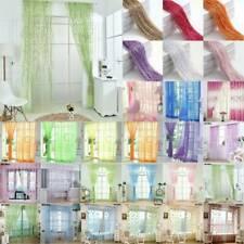 Solid Net & Mesh Screening Window Curtains Sheer Drape Bedroom Home Decorations