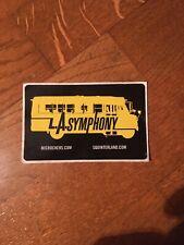 L.A. Symphony- Promo Sticker / Pigeon John