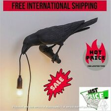 Seletti Style Raven Lamp Wall Light Black White Novelty Bird Resin Crow Bedside✅