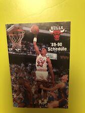 1989-1990 Chicago Bulls Pocket Schedule - Sponsor/Chicago Tribune- PIPPEN-