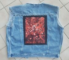 Heavy Metal Kutte.mit THRASH Metal Patch Gr.L. KREATOR, TANKARD, Iron Maiden