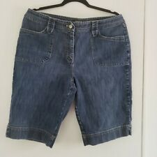 Womens Blue Jean Chicos Casual Shorts Chico Size 2, US Size 12