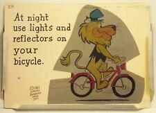 Lippy The Lion 1965 School Safety Tip Sign + Metal Holder Hanna Barbera, Bicycle