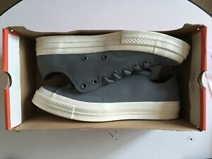 NEW Converse Chuck 70 Ox Low Leather Shoes Sneakers Gray Egret White Mens Size 9