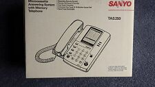 Vintage SANYO Microcassette Answering System With Memory Telephone,TAS 250