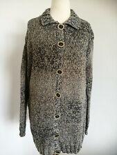 d242f20dbd Lange Damen-Strickjacken aus Baumwollmischung mit grober Strickart ...