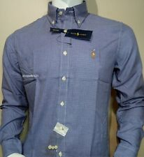 Men's 100% Cotton Ralph Lauren Long Sleeve Shirts**