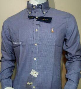 Men's 100% Cotton Ralph Lauren Long Sleeve Shirts**