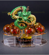 JP Anime Cartoon Crystal Dragon Ball Z Stars & Dragon Shenlong & Display Shelf