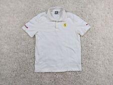 Puma Ferrari Formula 1 Polo Shirt Mens Large Scuderia 10th Anniversary White