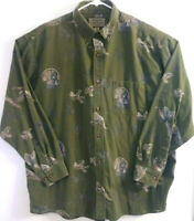 Woods & Water Mens Size XL Hunting Pheasant/Turkey Graphic Long Sleeve Shirt