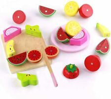 21pcs Wooden Food Play Set Magnetic Toy Gift for Toddler Dinner Kitchen Learning
