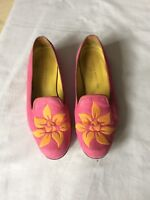 Stubbs & Wootton Canvas Palm Tree Embroidered Loafers Shoes Size 8 US