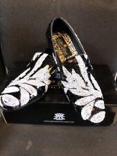 NEW After Midnight Men's Multi Color Sequins Slip On Dress Loafer Shoes S