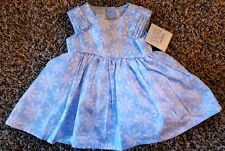 NWT Girl's Size 3 M Months Two Piece Carter's Blue Floral Designed Dress & DC