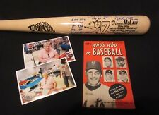 DENNY McLAIN AUTOGRAPH. COOPERSTOWN BAT. SIGNED WITH 14 INSCRIPTIONS. W/PHOTOS +