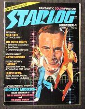 1977 STARLOG Magazine #4 VG- 3.5 Six Million Dollar Man Bionic Woman