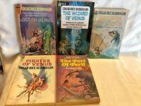 Burroughs Ace F Series Vintage SciFi 5 Book Lot VENUS Series - Krenkel Frazetta