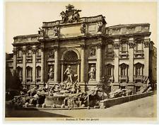 Italie, Roma, Fontana di Trevi del Bernini Vintage albumen print.  Tirage albu