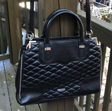 Rebecca Minkoff Quilted Leather Zipper Convertible Satchel Crossbody Bag Purse