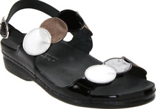 Helle Comfort Tula Black Multi Slingback Sandal Women's sizes 37-41 NEW!!!